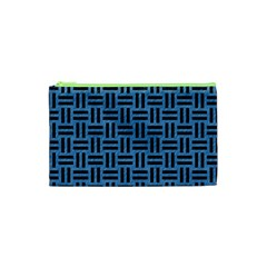 Woven1 Black Marble & Blue Colored Pencil (r) Cosmetic Bag (xs) by trendistuff