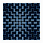 WOVEN1 BLACK MARBLE & BLUE COLORED PENCIL Medium Glasses Cloth Front