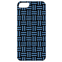 Woven1 Black Marble & Blue Colored Pencil Apple Iphone 5 Classic Hardshell Case by trendistuff
