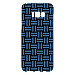 Woven1 Black Marble & Blue Colored Pencil Samsung Galaxy S8 Plus Hardshell Case  by trendistuff
