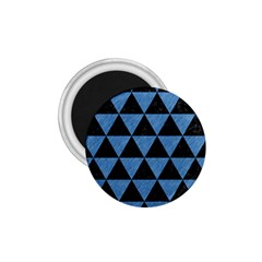 Triangle3 Black Marble & Blue Colored Pencil 1 75  Magnet by trendistuff