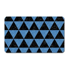 Triangle3 Black Marble & Blue Colored Pencil Magnet (rectangular) by trendistuff