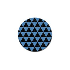 Triangle3 Black Marble & Blue Colored Pencil Golf Ball Marker by trendistuff