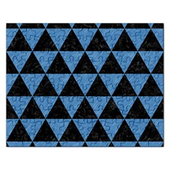 Triangle3 Black Marble & Blue Colored Pencil Jigsaw Puzzle (rectangular) by trendistuff