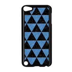 Triangle3 Black Marble & Blue Colored Pencil Apple Ipod Touch 5 Case (black) by trendistuff