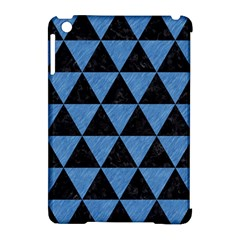 Triangle3 Black Marble & Blue Colored Pencil Apple Ipad Mini Hardshell Case (compatible With Smart Cover) by trendistuff