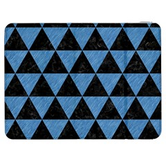Triangle3 Black Marble & Blue Colored Pencil Samsung Galaxy Tab 7  P1000 Flip Case by trendistuff