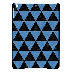 Triangle3 Black Marble & Blue Colored Pencil Apple Ipad Air Hardshell Case by trendistuff