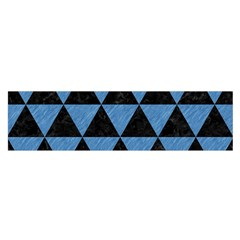 Triangle3 Black Marble & Blue Colored Pencil Satin Scarf (oblong) by trendistuff