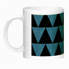 Triangle2 Black Marble & Blue Colored Pencil Night Luminous Mug by trendistuff