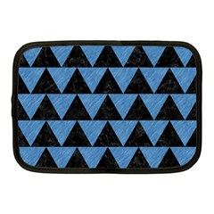 Triangle2 Black Marble & Blue Colored Pencil Netbook Case (medium) by trendistuff