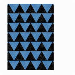 Triangle2 Black Marble & Blue Colored Pencil Large Garden Flag (two Sides) by trendistuff