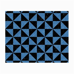 Triangle1 Black Marble & Blue Colored Pencil Small Glasses Cloth by trendistuff