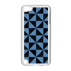 Triangle1 Black Marble & Blue Colored Pencil Apple Ipod Touch 5 Case (white) by trendistuff