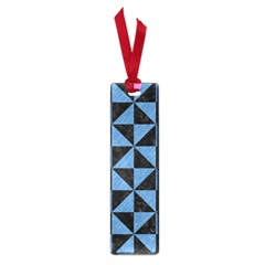 Triangle1 Black Marble & Blue Colored Pencil Small Book Mark by trendistuff