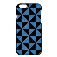 Triangle1 Black Marble & Blue Colored Pencil Apple Iphone 6 Plus/6s Plus Hardshell Case by trendistuff
