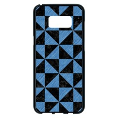 Triangle1 Black Marble & Blue Colored Pencil Samsung Galaxy S8 Plus Black Seamless Case by trendistuff