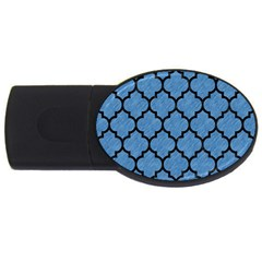 Tile1 Black Marble & Blue Colored Pencil (r) Usb Flash Drive Oval (2 Gb) by trendistuff
