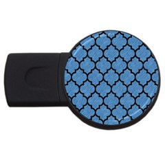 Tile1 Black Marble & Blue Colored Pencil (r) Usb Flash Drive Round (4 Gb) by trendistuff
