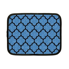 Tile1 Black Marble & Blue Colored Pencil (r) Netbook Case (small) by trendistuff