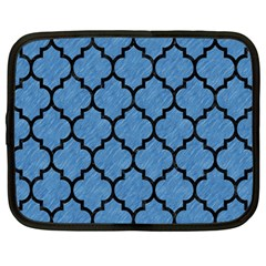 Tile1 Black Marble & Blue Colored Pencil (r) Netbook Case (large) by trendistuff