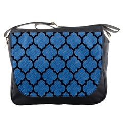 Tile1 Black Marble & Blue Colored Pencil (r) Messenger Bag by trendistuff
