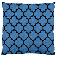 Tile1 Black Marble & Blue Colored Pencil (r) Large Cushion Case (one Side) by trendistuff