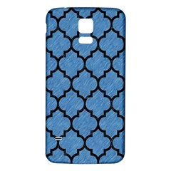 Tile1 Black Marble & Blue Colored Pencil (r) Samsung Galaxy S5 Back Case (white) by trendistuff