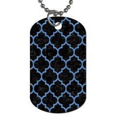 Tile1 Black Marble & Blue Colored Pencil Dog Tag (one Side) by trendistuff