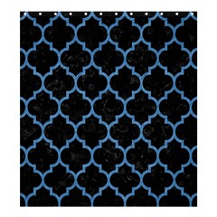 Tile1 Black Marble & Blue Colored Pencil Shower Curtain 66  X 72  (large) by trendistuff