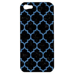 Tile1 Black Marble & Blue Colored Pencil Apple Iphone 5 Hardshell Case by trendistuff