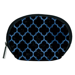 Tile1 Black Marble & Blue Colored Pencil Accessory Pouch (medium) by trendistuff