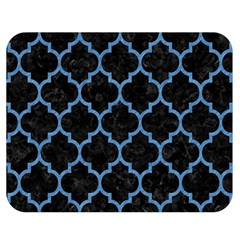 Tile1 Black Marble & Blue Colored Pencil Double Sided Flano Blanket (medium) by trendistuff