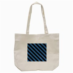 Stripes3 Black Marble & Blue Colored Pencil (r) Tote Bag (cream) by trendistuff