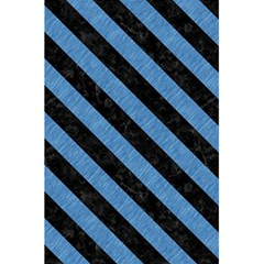 Stripes3 Black Marble & Blue Colored Pencil (r) 5 5  X 8 5  Notebook by trendistuff