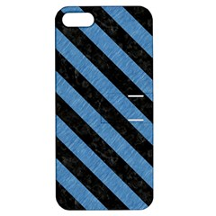 Stripes3 Black Marble & Blue Colored Pencil (r) Apple Iphone 5 Hardshell Case With Stand by trendistuff