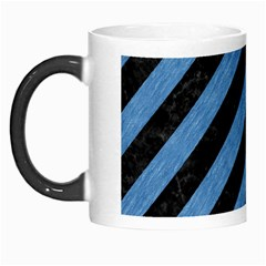 Stripes3 Black Marble & Blue Colored Pencil Morph Mug by trendistuff