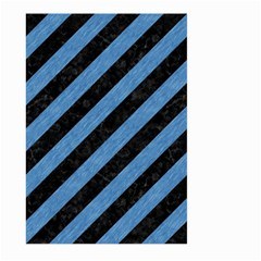 Stripes3 Black Marble & Blue Colored Pencil Large Garden Flag (two Sides) by trendistuff