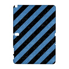 Stripes3 Black Marble & Blue Colored Pencil Samsung Galaxy Note 10 1 (p600) Hardshell Case by trendistuff