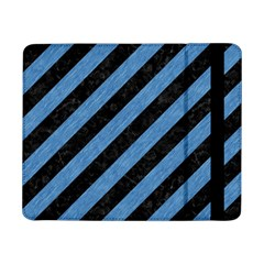 Stripes3 Black Marble & Blue Colored Pencil Samsung Galaxy Tab Pro 8 4  Flip Case
