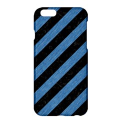 Stripes3 Black Marble & Blue Colored Pencil Apple Iphone 6 Plus/6s Plus Hardshell Case by trendistuff