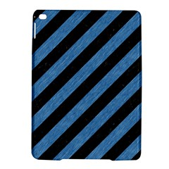 Stripes3 Black Marble & Blue Colored Pencil Apple Ipad Air 2 Hardshell Case by trendistuff