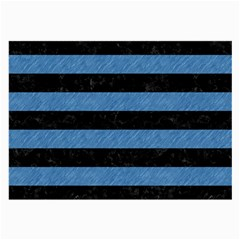 Stripes2 Black Marble & Blue Colored Pencil Large Glasses Cloth (2 Sides) by trendistuff