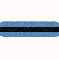 Stripes2 Black Marble & Blue Colored Pencil Large Bar Mat by trendistuff