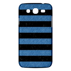Stripes2 Black Marble & Blue Colored Pencil Samsung Galaxy Mega 5 8 I9152 Hardshell Case  by trendistuff