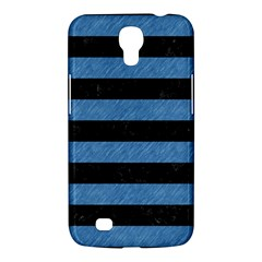 Stripes2 Black Marble & Blue Colored Pencil Samsung Galaxy Mega 6 3  I9200 Hardshell Case by trendistuff