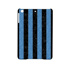 Stripes1 Black Marble & Blue Colored Pencil Apple Ipad Mini 2 Hardshell Case by trendistuff