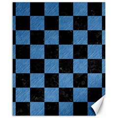Square1 Black Marble & Blue Colored Pencil Canvas 16  X 20  by trendistuff