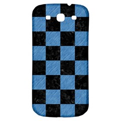 Square1 Black Marble & Blue Colored Pencil Samsung Galaxy S3 S Iii Classic Hardshell Back Case by trendistuff