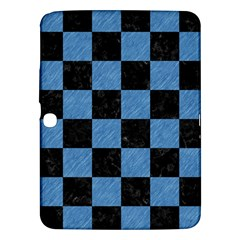 Square1 Black Marble & Blue Colored Pencil Samsung Galaxy Tab 3 (10 1 ) P5200 Hardshell Case  by trendistuff